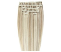 Double Hair Set 18 Inch Clip-In Hair Extensions (Various Shades) - Champagne Blonde 613/18