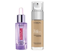 L'Oreal Paris Hyaluronic Acid Filler Serum and True Match Hyaluronic Acid Foundation Duo (Various Shades) - 3W Golden Beige