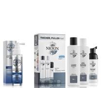 3-teiliges System 2 Testpaket für natürliches Haar mit fortgeschrittener Ausdünnung Kit
