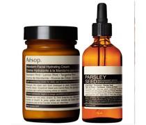 Mandarin Facial Cream and Parsley Seed Serum Duo