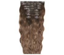 22 Inch Beach Wave Double Hair Extension Set (Various Shades) - Mocha Melt