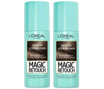 Magic Retouch Medium Iced Brown Root Concealer Spray Duo Pack