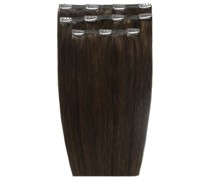 Deluxe Clip-In Hair Extensions 18 Inch (Various Shades) - Raven 2