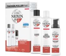 3-teiliges System 4 Trial Kit für gefärbtes Haar mit fortgeschrittener Ausdünnung