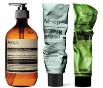 Body Scrub, Body Cleanser and Toothpaste Bundle