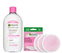 Makeup Remover Eco Pads and 700ml Micellar Water Duo Set