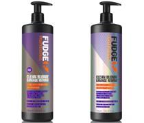 Clean Blonde Damage Rewind Violet-Toning Shampoo and Conditioner Bundle 1L