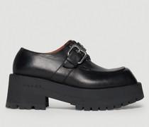 Derby Buckle Platform Loafers
