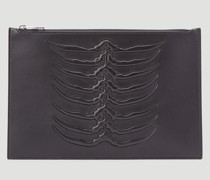Rib Cage Leather Pouch