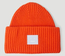 Face Logo Patch Beanie Hat