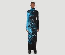 Paint Knit Turtleneck Dress