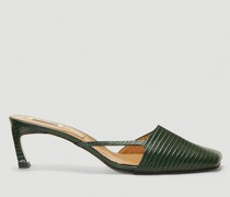 Cut-Out Heeled Mules