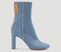 Denim Heeled Boots