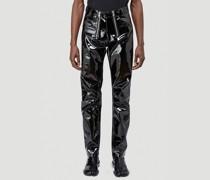 Double-Zip Vinyl Pants