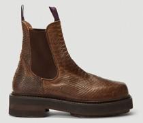 Ortega Snake-Print Boots