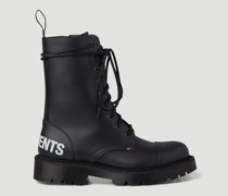 Logo Lace-Up Military Boots