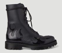 Flame Military Lace-Up Boots