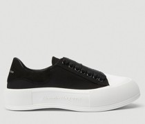 Deck Lace-Up Plimsoll Sneakers