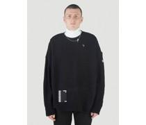 Oversized Reversed-Braid Sweater