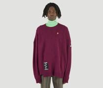 Logo-Patch Braid Sweater
