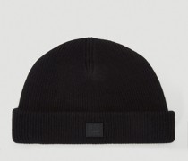 Face-Patch Beanie Hat