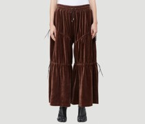 Velour Peasant Pants