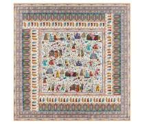 Aegyptische Leute 140x140 multi pastel