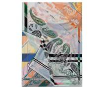 Modern Paisley Scarf 65x180 multi colour