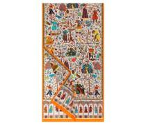 Aegyptische Leute 45x170 multi mandarine