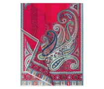Summer Paisley Scarf 70x180 multi orchid
