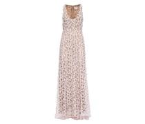 Light pink macrame lace maxi dress
