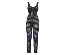 Black open-knit jumpsuit