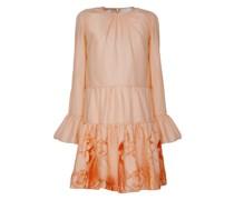 Ruffled printed cotton midi-dress