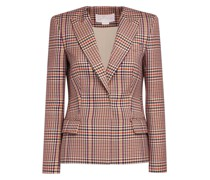 Beige Galles jacquard-print blazer