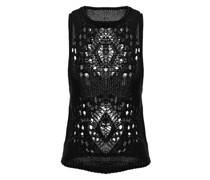 Silk black lace top