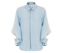Ruched denim shirt