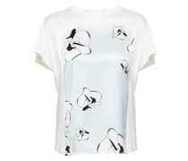 Jersey orchid printed t-shirt