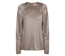 Lamè top with long sleeves