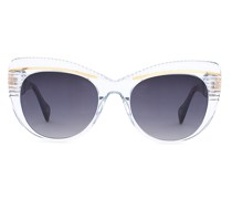 Trasparent cat-eye sunglasses