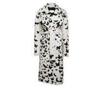 Butterflies-motif oversized coat