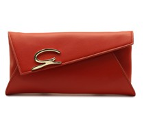Red envelope  Appleskin leather clutch