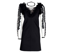 Ruched black minidress