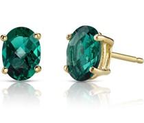 Ohrringe mit ovalen Smaragden Qati