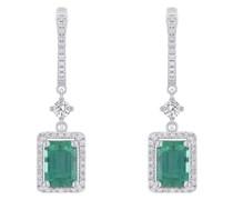 Smaragdohrringe mit Diamanten Livia