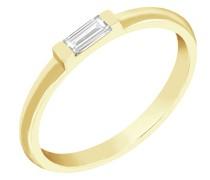 Ring mit weißen Baguette-Saphir Xenia