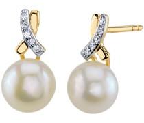 Ohrringe aus Gold mit Perlen und Zirkonia Brienna