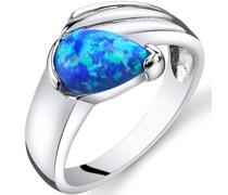 Ring mit blauem Opal Aussie