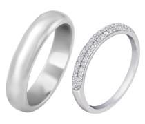Diamant Eternity Ring und Herren Halbkugel-Forma Trauring Pania
