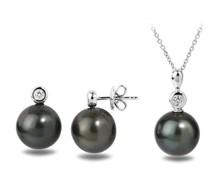 Set mit Tahiti Perlen und Diamanten Elora
