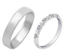 Herz-Ring Eternity mit Diamanten und Komfort Ring Marilee